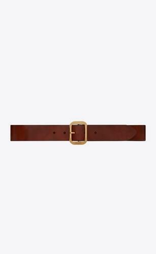cinturón con hebilla joe de cuero sin curtir envejecido