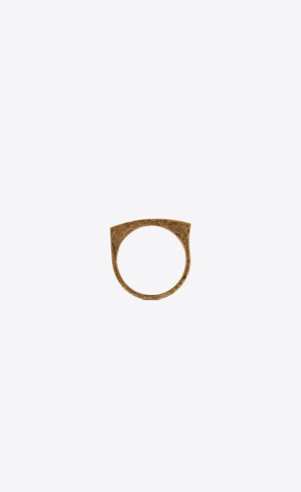 tribal curb ring in metal