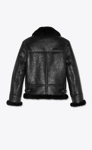 aviator jacket in sheepskin with shearling