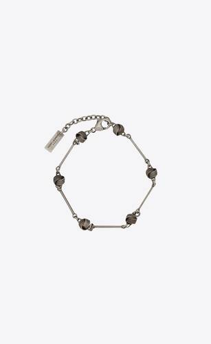 knot and bar-chain bracelet in metal