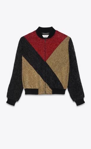 teddy jacket in embroidered velvet