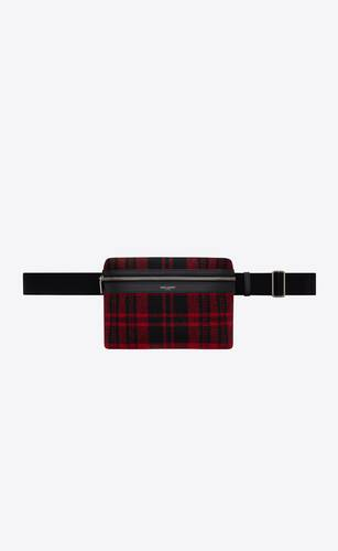 city camera bag in tartan