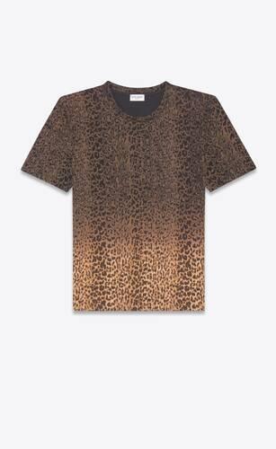 타이 다이 레오파드 프린트 티셔츠