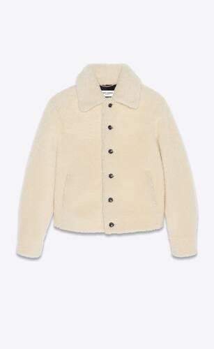denim-style jacket in shearling