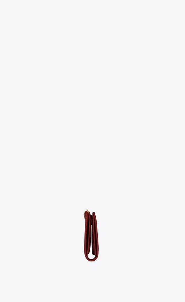 bifold-portemonnaie mit reißverschluss aus mattem leder