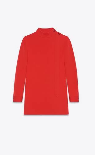 mini dress in wool jersey