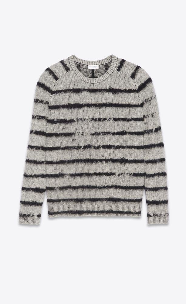 suéter a rayas irregulares cepilladas