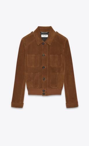 jacket in suede