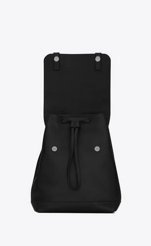 mochila sac de jour de piel granulada