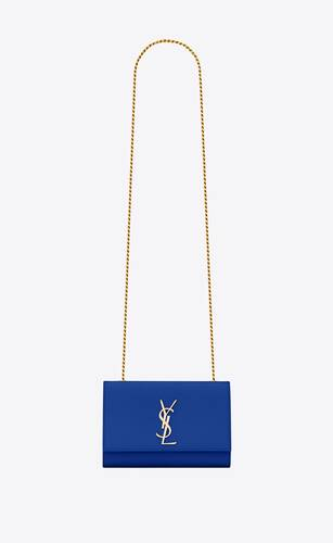 classic small kate chain bag in grain de poudre textured leather
