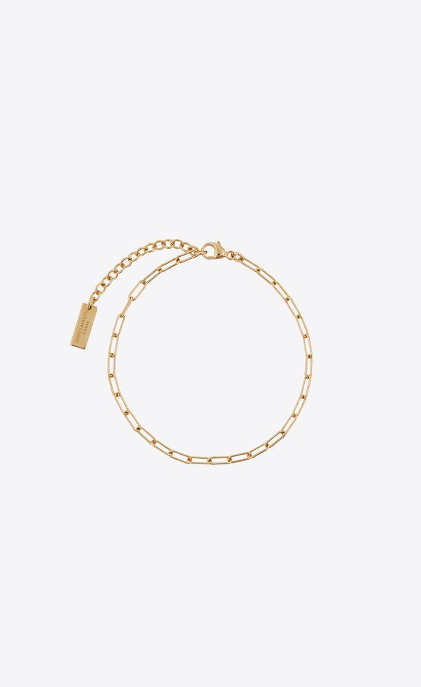 bracelet de cheville fin chaîne forçat en métal