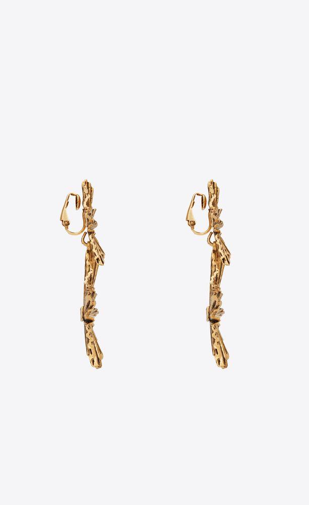 boucles d'oreilles pendantes étoiles en métal