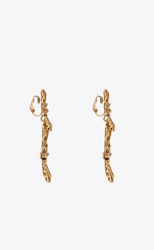stars & love radiating star pendant earrings in metal