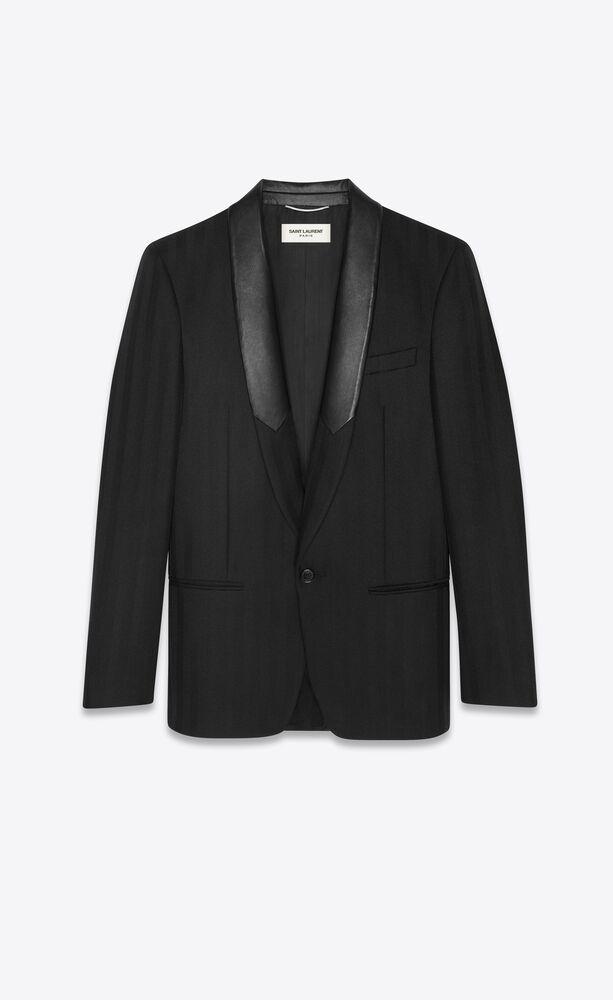 veste rayée à boutonnage simple en laine