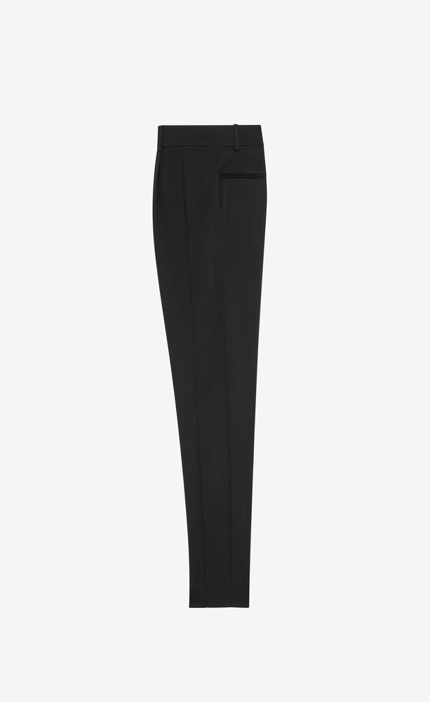 high-rise pants in wool twill