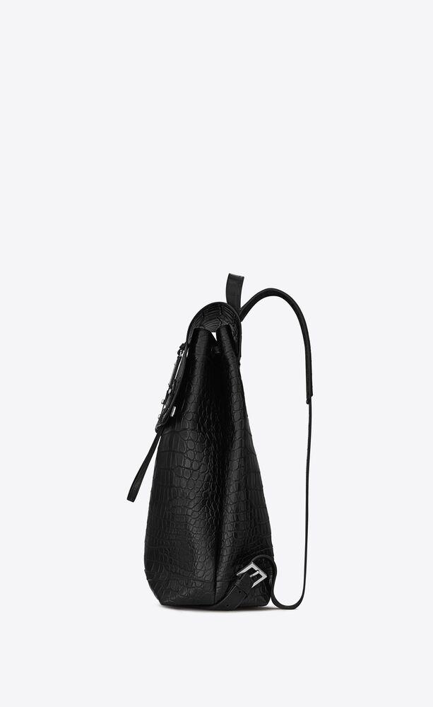 sac de jour backpack in crocodile embossed leather