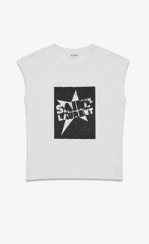 """saint laurent"" star tank top"