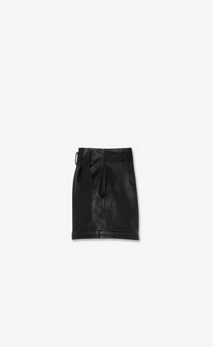 pleated shorts in lambskin