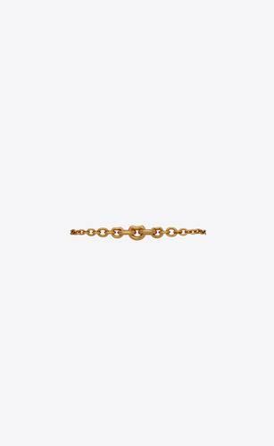 mini graduated chain bracelet in 18k gold