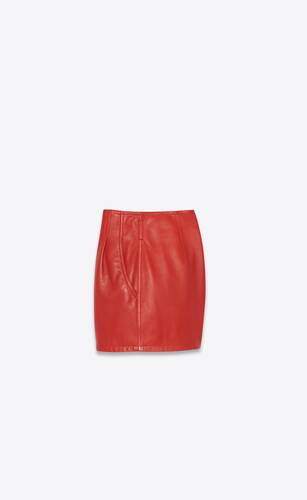 high-rise pleated shorts in lambskin