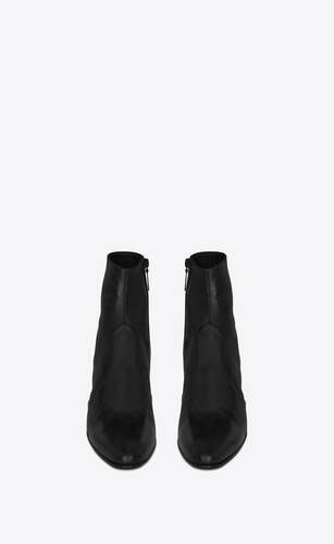 joey zipped boots in smooth leather