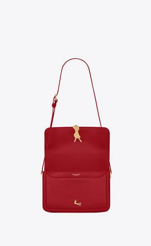 solferino satchel medium en cuir box saint laurent