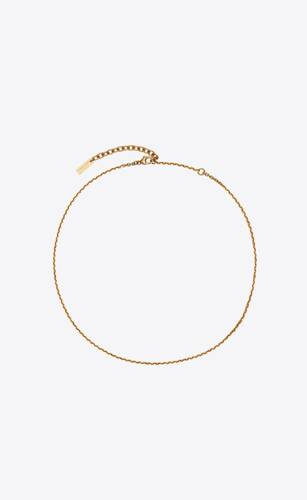 small faceted cable-chain necklace
