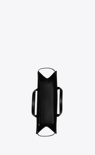 manhattan medium shopping bag en cuir box saint laurent