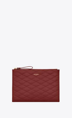 sade zip pouch in carré-quilted lambskin