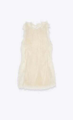 mini dress in faux fur