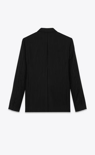 flannel jacket with rive gauche stripes