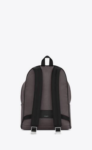 나일론 캔버스와 가죽 소재의 블랙 클래식 시티 백팩