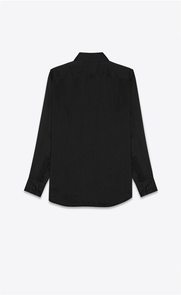 classic shirt in silk crepe