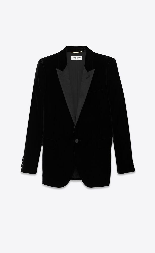 tuxedo jacket in velvet