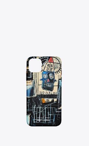 coque d'iphone 11 pro max à imprimé jean-michel basquiat