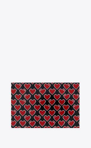 pixelated heart postcard