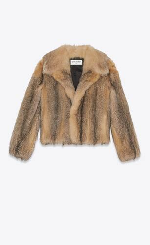 short coat in fox fur