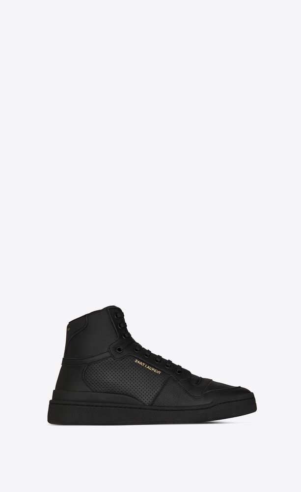 sl24 mid-top sneakers in used-look perforated leather