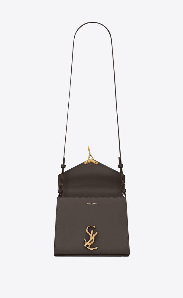 borsa cassandra mini in pelle goffrata grain de poudre con manico superiore
