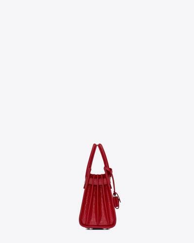 classic sac de jour nano in embossed crocodile shiny leather