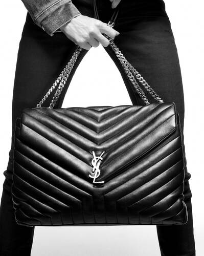 "loulou large in ""y"" matelassé leather"
