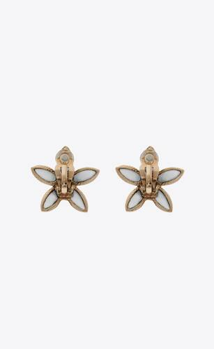 tiny flower earrings in metal