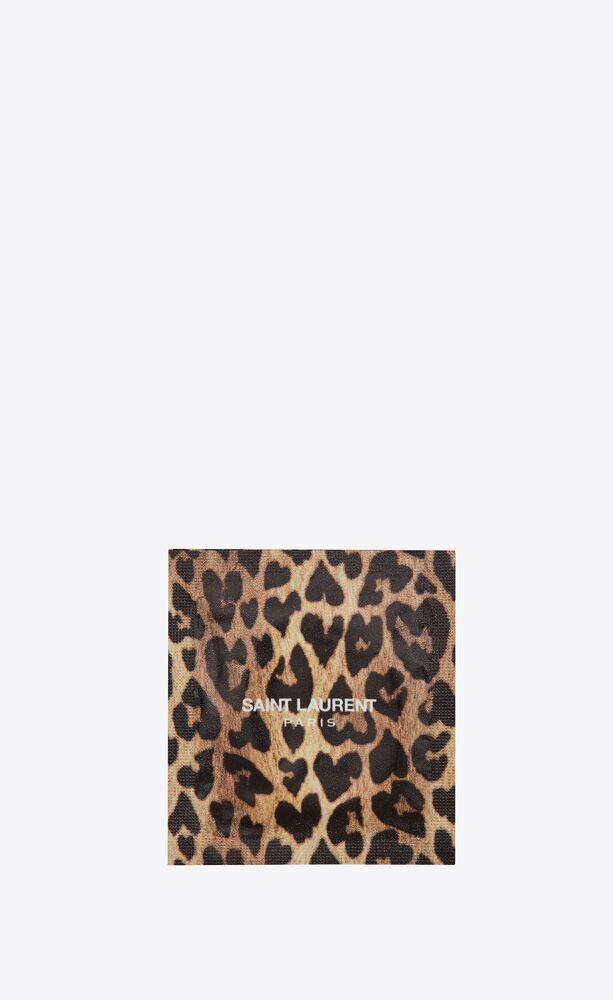 leopard heart condom