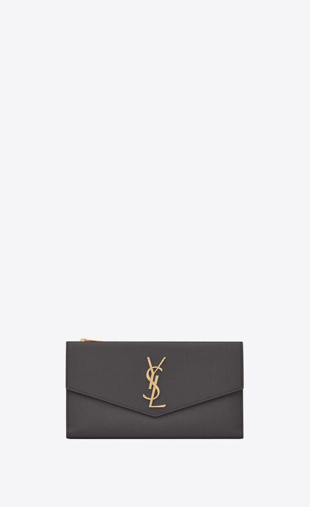 uptown large wallet in grain de poudre embossed leather
