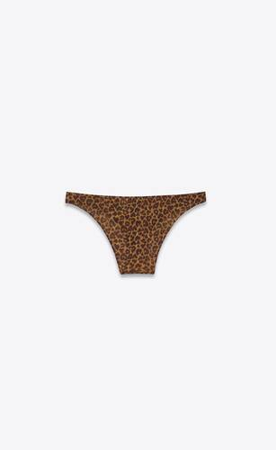 mini panties in heart-shaped leopard-print jersey tulle