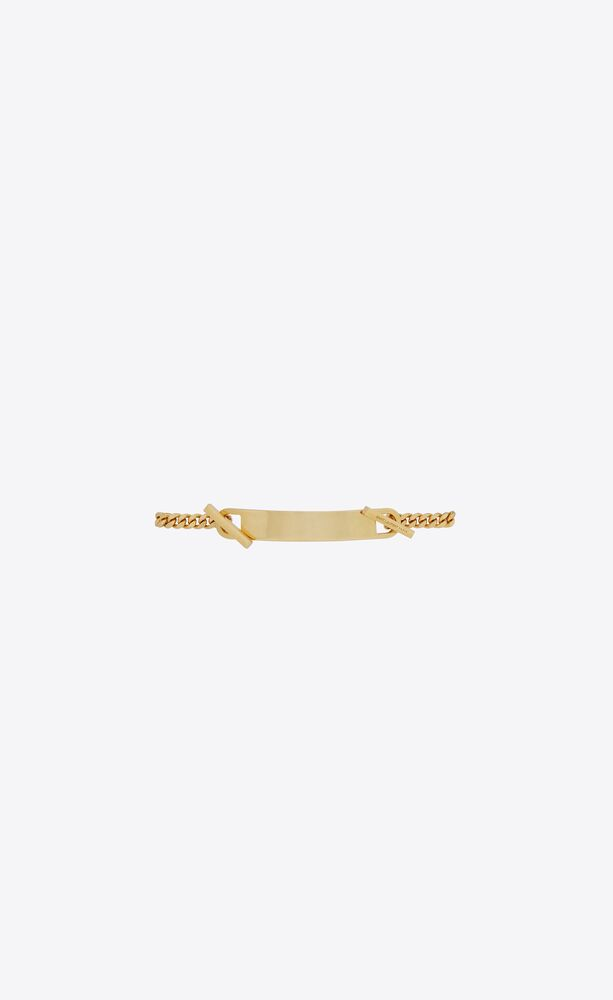 bracciale battesimale t-bar in metallo