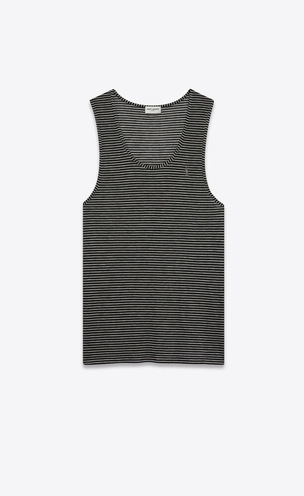 striped monogram tank top in jersey