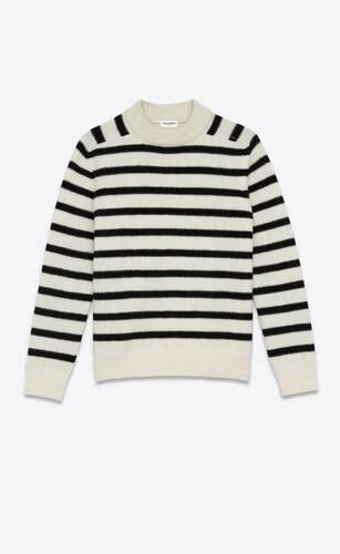 high-neck sweater in wool felt