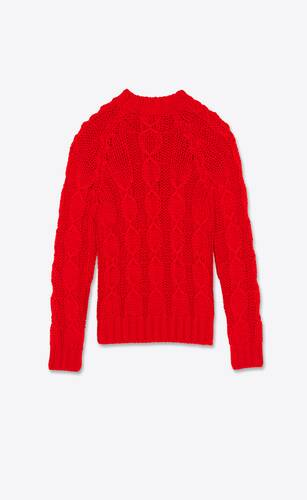 cable-knit sweater in wool and mohair