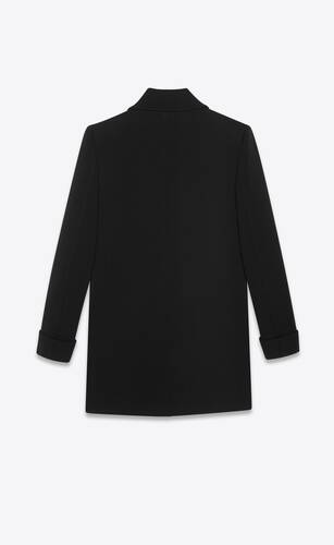 fitted coat in wool jersey